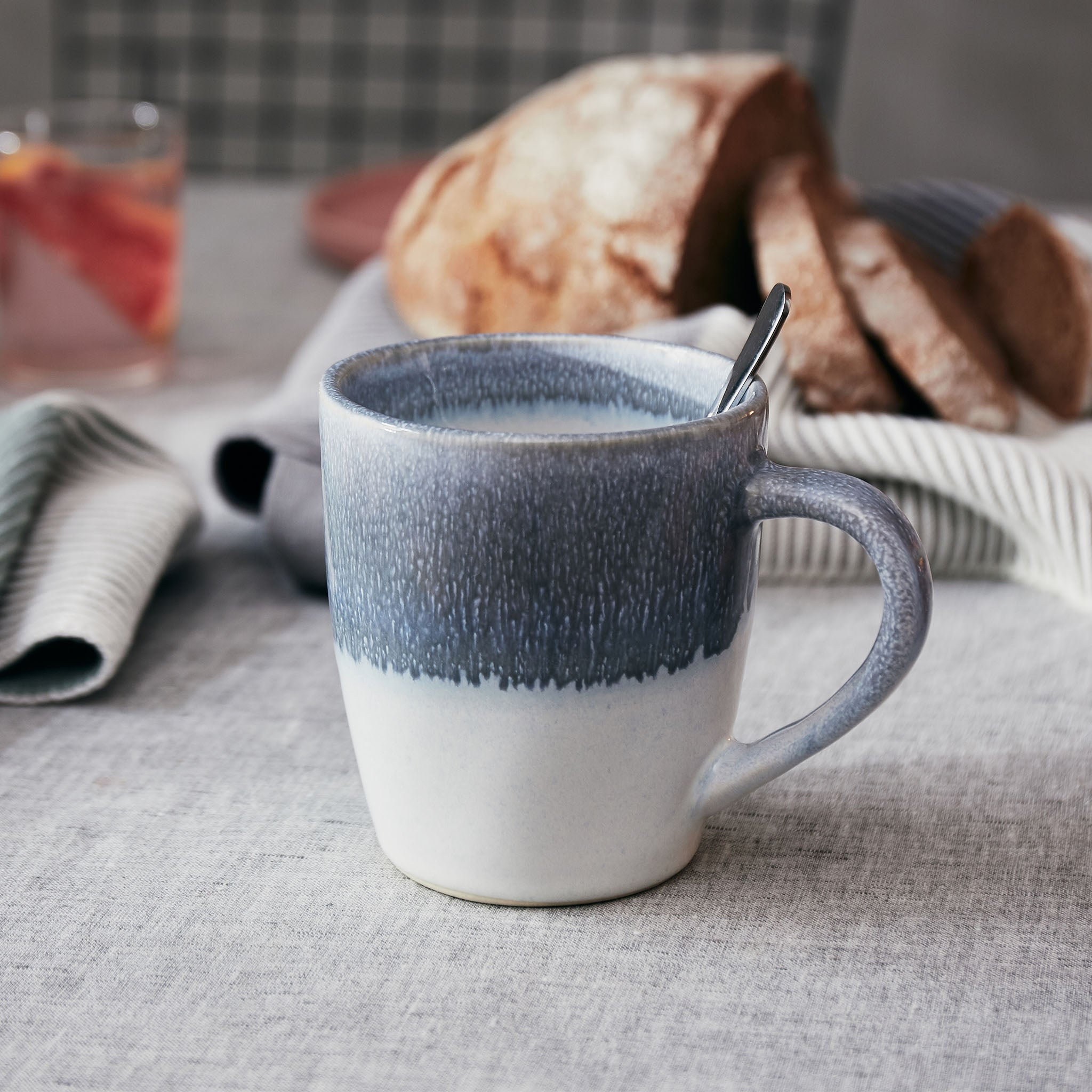 Caima Mug Set in blue grey | Home & Living inspiration | URBANARA