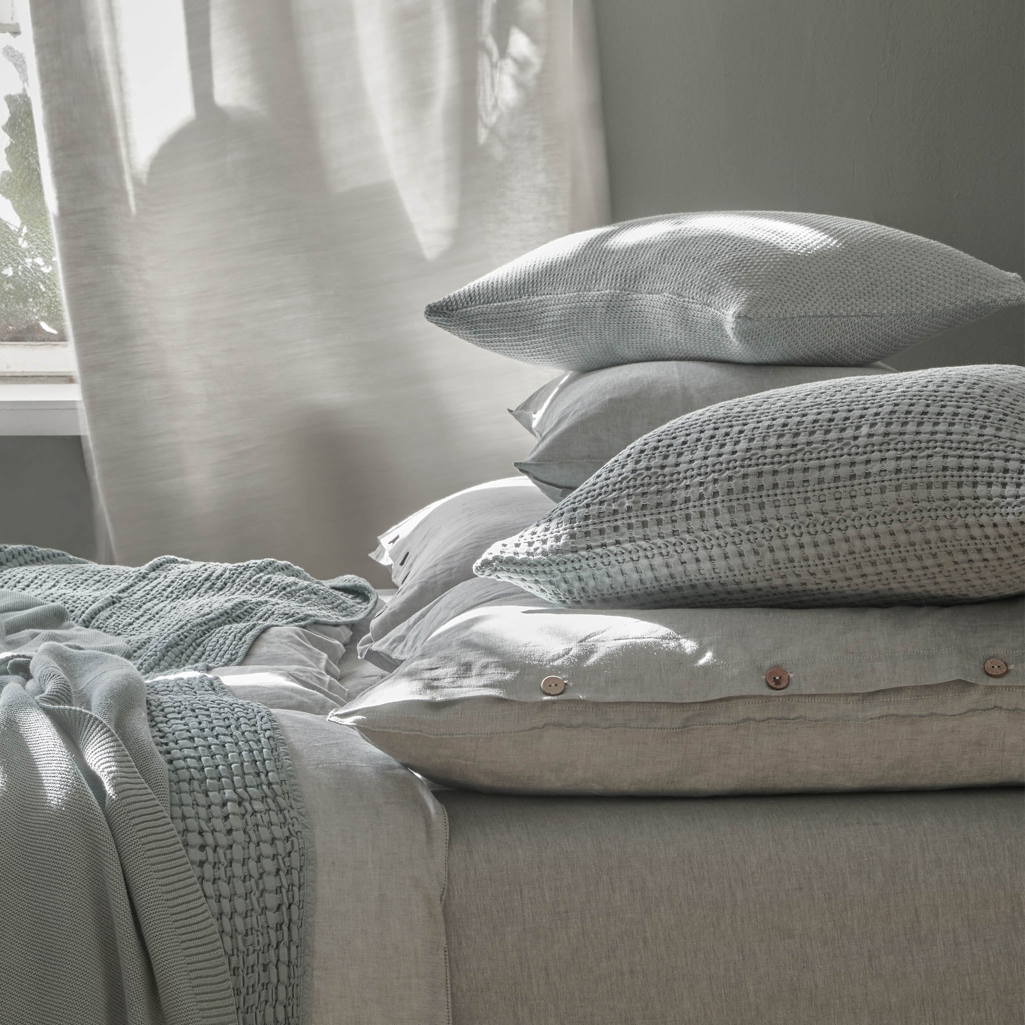 Anadia Cushion in light grey | Home & Living inspiration | URBANARA
