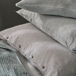 Tolosa Linen Bed Linen in light grey | Home & Living inspiration | URBANARA
