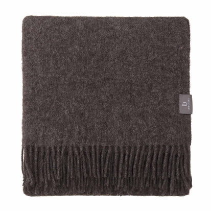 Tahua Wool Blanket grey brown melange, 50% alpaca wool & 50% lambswool