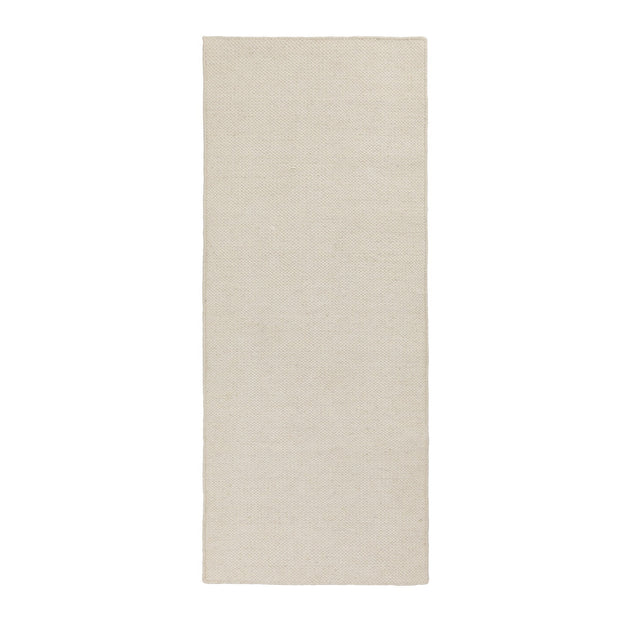 Udana runner, natural white, 100% wool | URBANARA runners