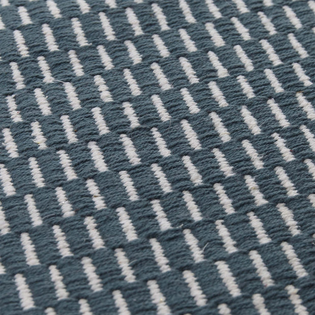 Upani rug, teal & natural, 100% cotton | URBANARA cotton rugs