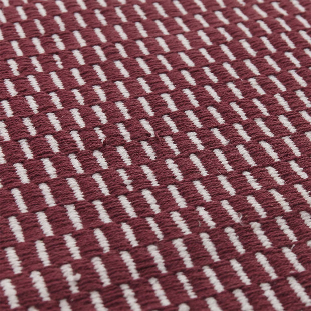 Upani runner, bordeaux red & natural, 100% cotton |High quality homewares