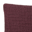 Veiros Sao Cushion bordeaux red, 100% cotton | URBANARA cushion covers