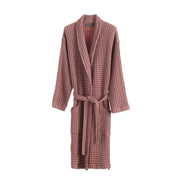 Veiros bathrobe, dusty pink, 100% cotton