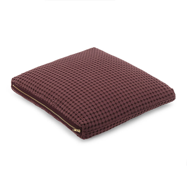Veiros Sao Cushion bordeaux red, 100% cotton