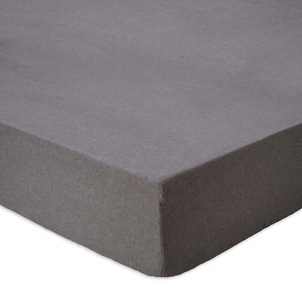 Vilar fitted sheet, stone grey, 100% organic cotton