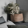 Dasai Basket natural & charcoal, 100% jute | URBANARA storage baskets
