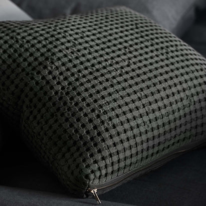 Veiros Sao Cushion in moss green | Home & Living inspiration | URBANARA