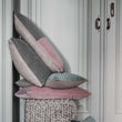 Belur cushion, blush pink & grey & natural, 100% cotton & 100% linen | URBANARA cushion covers