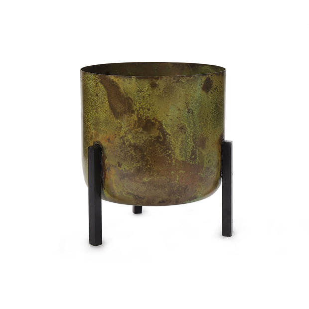 Zaroli Planter brass & mustard & black, 100% metal