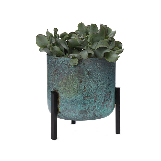 Zaroli Planter in turquoise & black | Home & Living inspiration | URBANARA