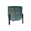 Zaroli Planter turquoise & black, 100% metal