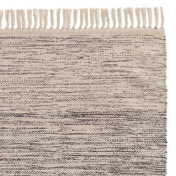Ziller runner, grey & natural white, 100% cotton