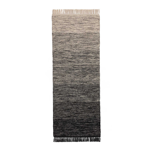 Ziller runner, black & natural white, 100% cotton |High quality homewares