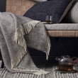 Gotland Wool Blanket grey & cream, 100% new wool | High quality homewares