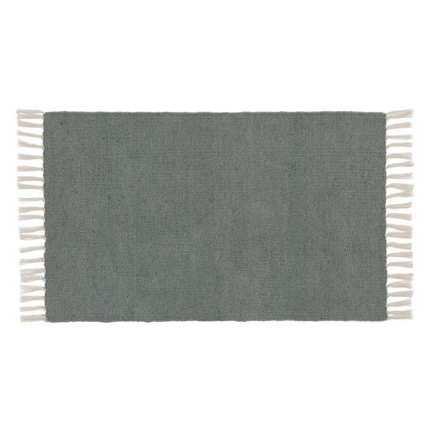 Udaka doormat, green grey, 100% pet