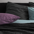 Montrose Flannel Pillowcase in aubergine | Home & Living inspiration | URBANARA