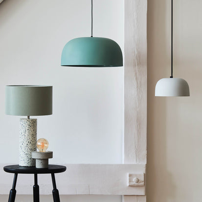 Murguma Pendant Lamp in light grey green | Home & Living inspiration | URBANARA