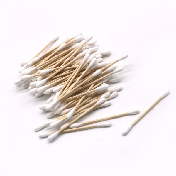 100 pieces Bamboo Cotton Buds Cotton Swabs - Bambooherb