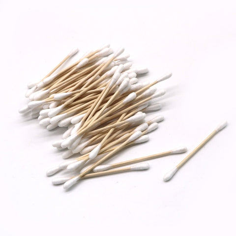 1000 Count - Cotton Swab Double Head Cotton Buds - Bambooherb