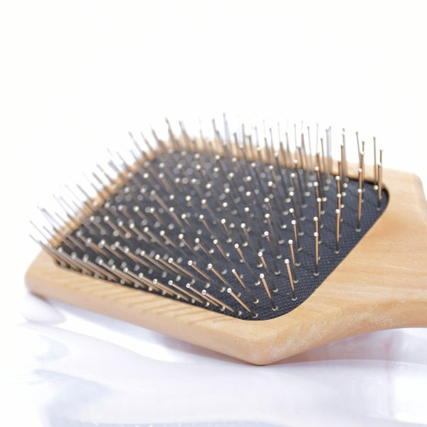 High Quality Wooden Hair Brush- Natural Bamboo Anti-static Brush - Bambooherb