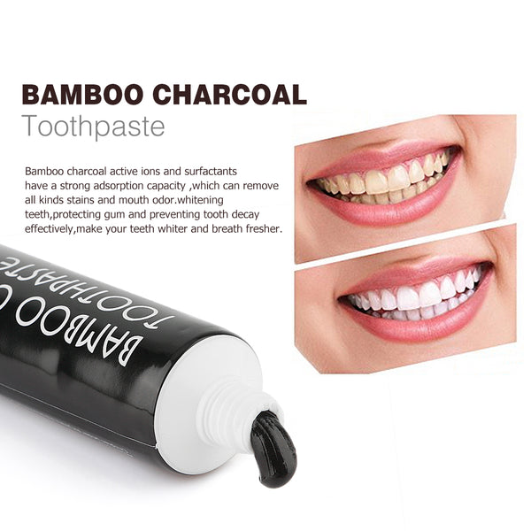 Bamboo Active Charcoal Teeth Whitening Toothpaste (Mint Flavor) - Bambooherb