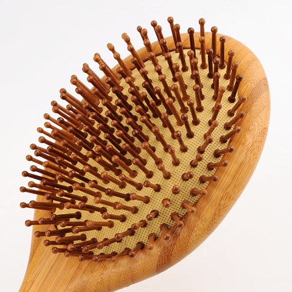 Wooden Bamboo Hair Vent Brush - Massage Comb - Bambooherb