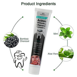 Charcoal toothpaste - Activated Charcoal Teeth Whitening Toothpaste Mint Flavor - Bambooherb