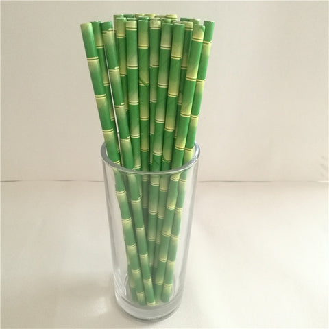 25pcs Bamboo Paper Straws Reusable Compostable Biodegradable Eco-friendly drinking straws - Bambooherb