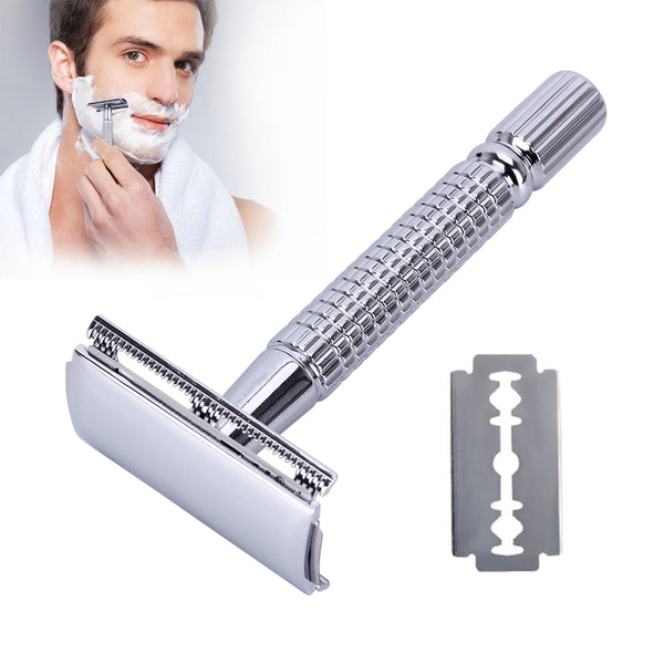 Double Edge Shave Men Safety Razor with Blades - Bambooherb