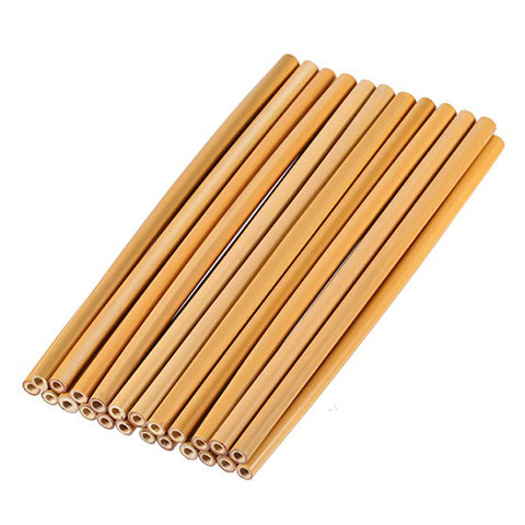 4 Pieces /Set Reusable Eco Friendly Biodegradable Bamboo Drinking Straws Without Brush - Bambooherb
