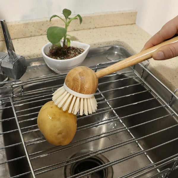 New Arrival Dish Bowl Brush Kitchen Cleaning Brush With Natural Bamboo Long Handle - Bambooherb