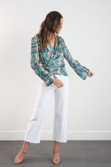 ALYSTER BLOUSE - MERMAID PRINT