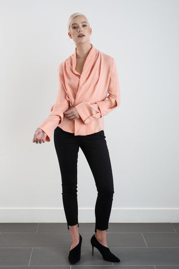 ALYSTER BLOUSE - BLUSH