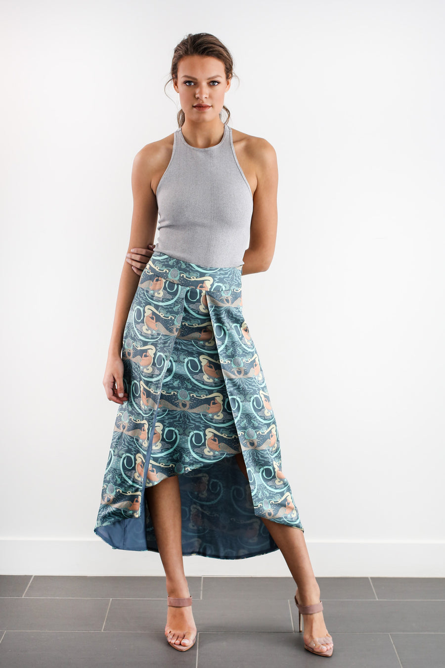 AVERY SKIRT - MERMAID PRINT