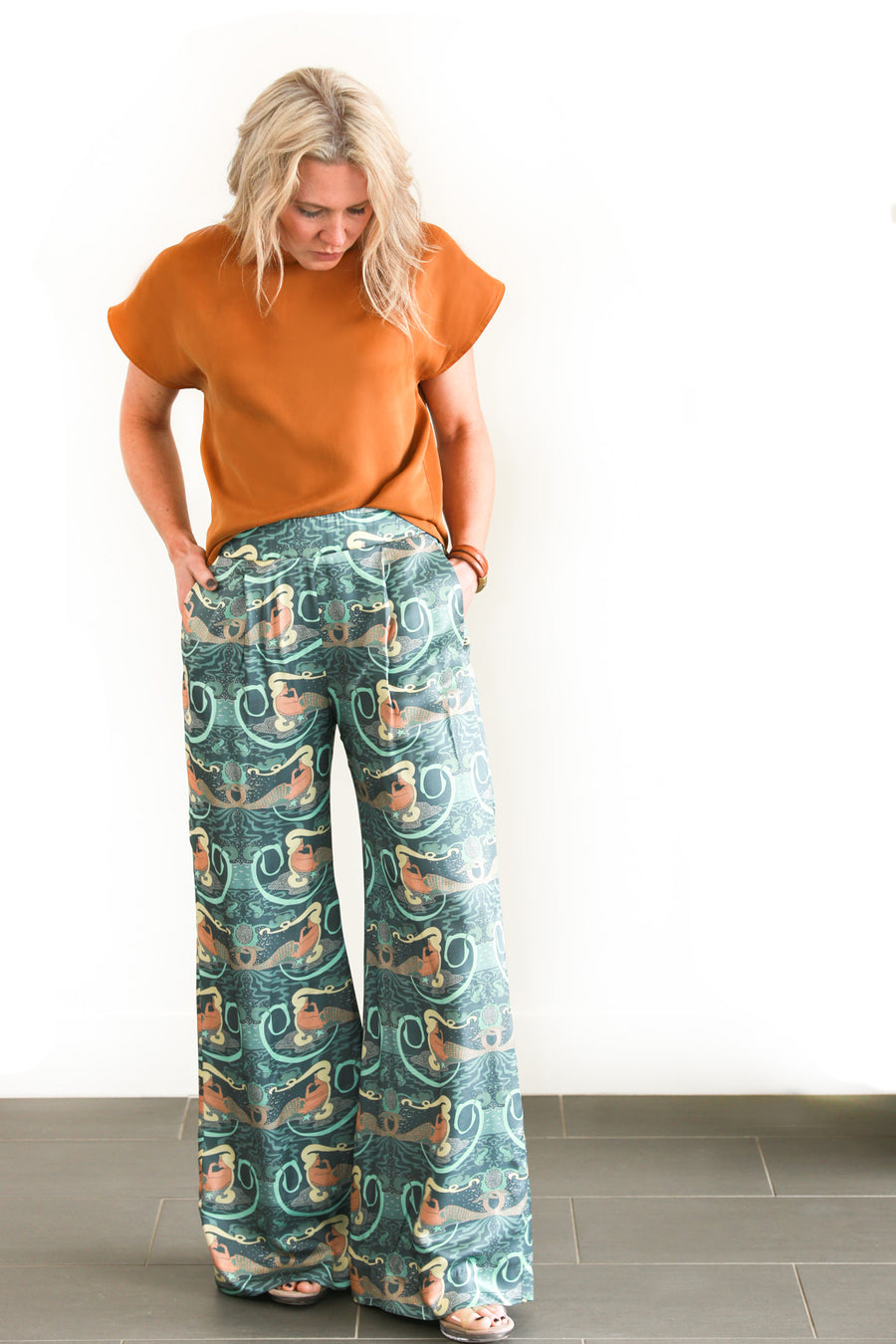 PHOEBE PANT - SILK MERMAID