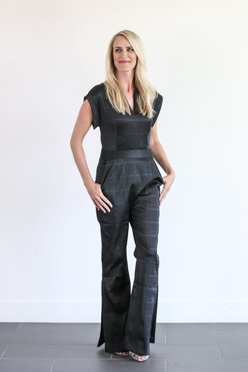 EMERSON JUMPSUIT (PLAID)