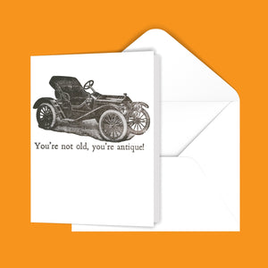 You're not old, you're antique! Greeting Card