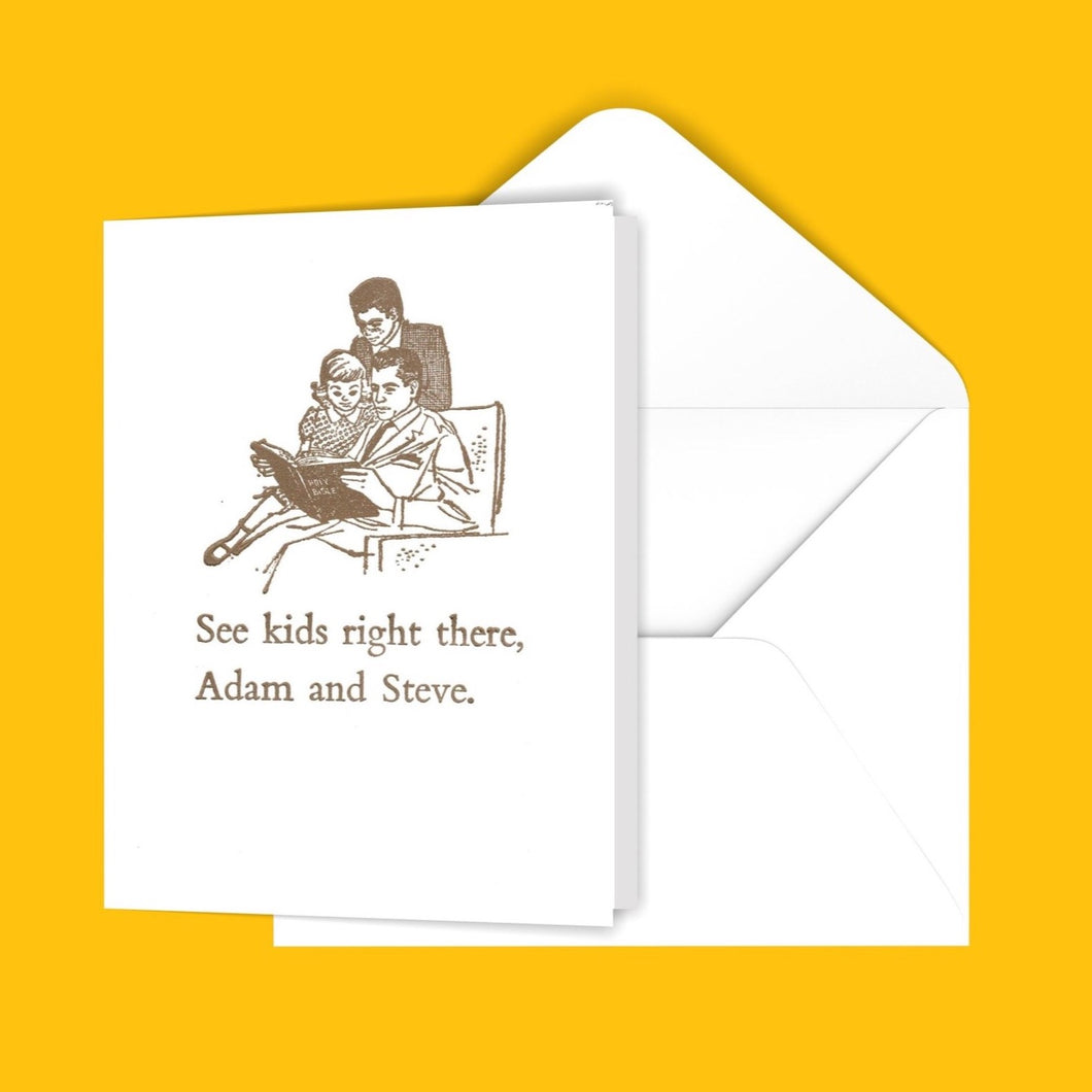 Adam and Steve Greeting Card
