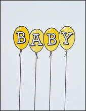Load image into Gallery viewer, Baby Balloons (yellow) Greeting Card