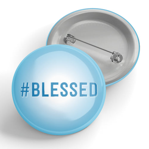 #Blessed Button-Wholesale
