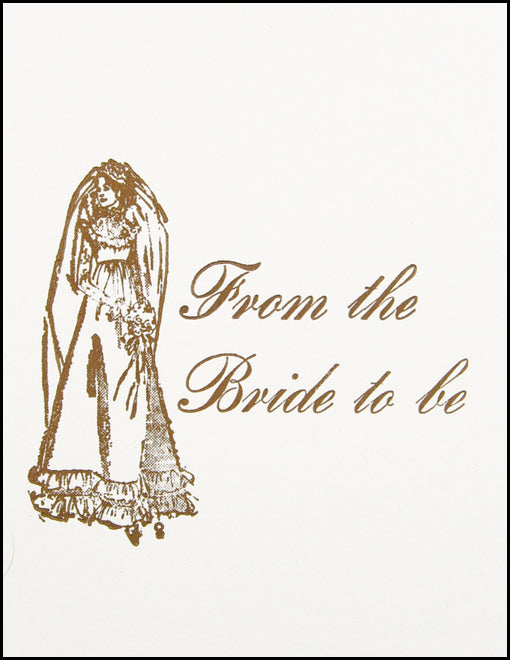 From the Bride to be