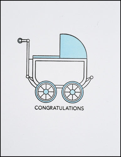 Congratulations (blue baby carriage)