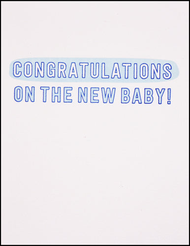 Congratulations In The New Baby!