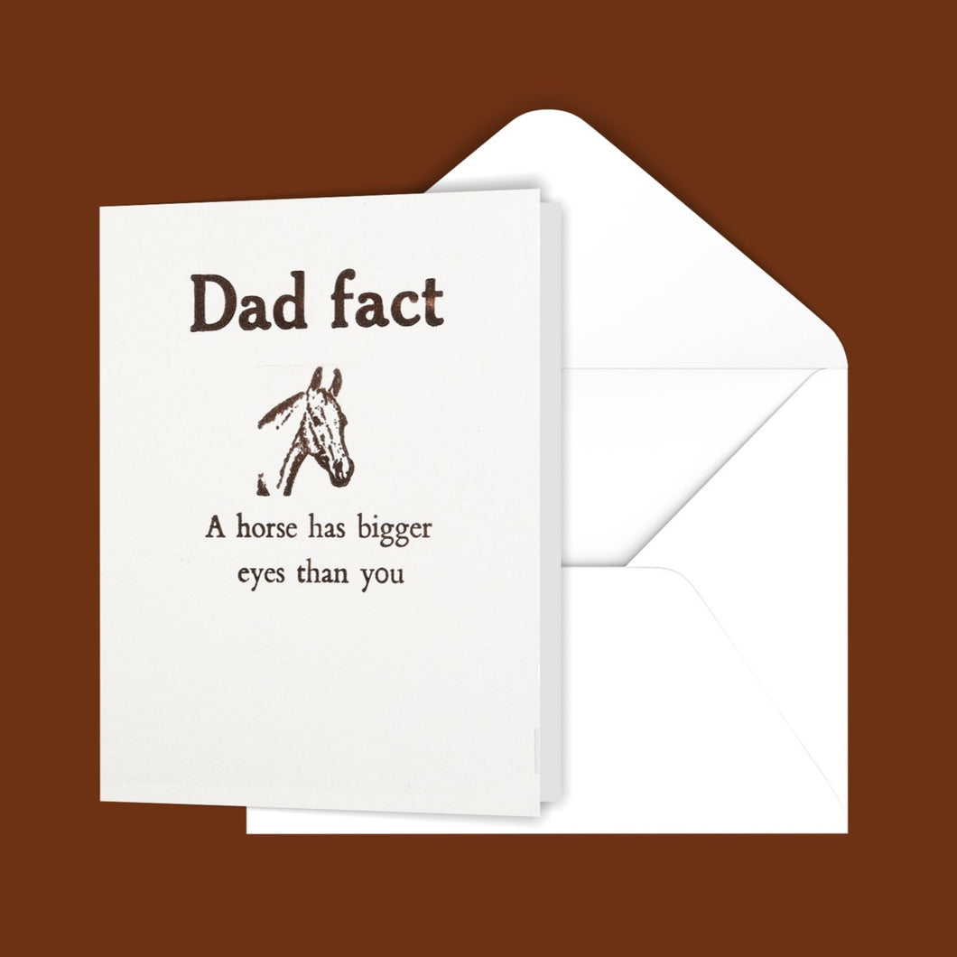 Dad fact (horse) Greeting Card