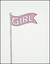 Load image into Gallery viewer, Girl Flag Greeting Card