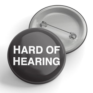 Hard of Hearing (black) Button