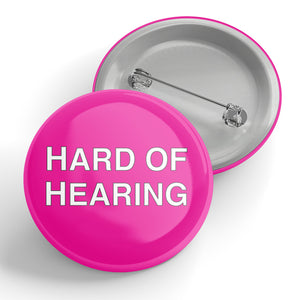 Hard of Hearing (pink) Button