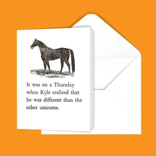 It was on a Thursday... Greeting Card